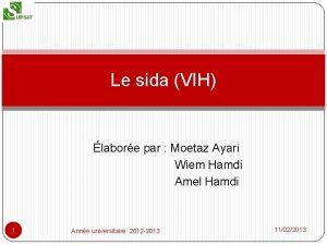 Le sida VIH labore par Moetaz Ayari Wiem