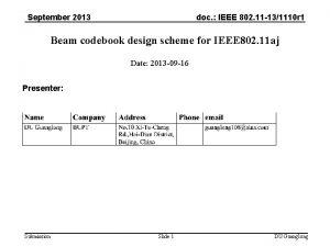 September 2013 doc IEEE 802 11 131110 r
