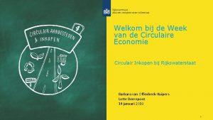 Welkom bij de Week van de Circulaire Economie
