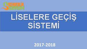 LSELERE GE SSTEM 2017 2018 LSELERE YERLETRME NASIL