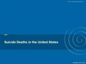 SPRC Suicide Prevention Resource Center Suicide Deaths in