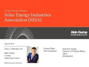 ITC Start Construction Strategies Solar Energy Industries Association