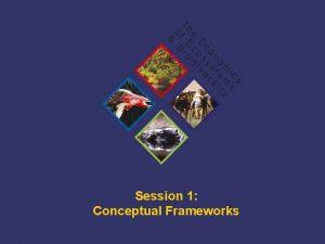 Session 1 Conceptual Frameworks TEEB Training A summary