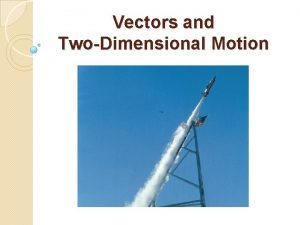 Vectors and TwoDimensional Motion 3 1 VECTORS AND