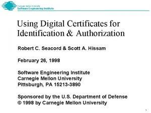 Carnegie Mellon University Software Engineering Institute Using Digital