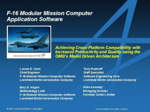 F16 Modular Mission Computer Application Software Achieving CrossPlatform