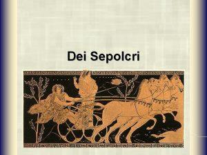 Dei Sepolcri Epigrafe iniziale Deorum manium iura sancta