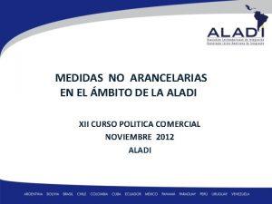 MEDIDAS NO ARANCELARIAS EN EL MBITO DE LA