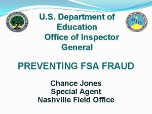 U S Department of Education Office of Inspector