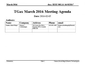 March 2016 doc IEEE 802 11 160235 r