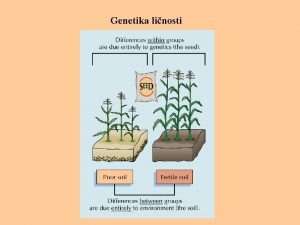 Genetika linosti Genetika ponaanja bihevioralna genetika nastoji opaene