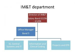 IMT department Director of IMT Salary Band 115