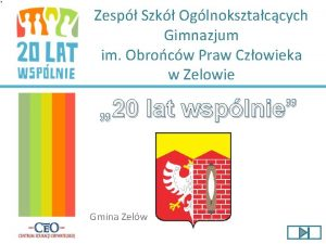 Zesp Szk Oglnoksztaccych Gimnazjum im Obrocw Praw Czowieka