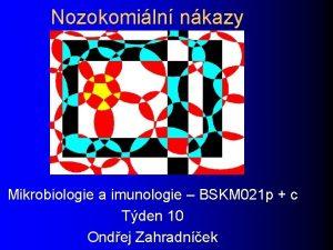 Nozokomiln nkazy Mikrobiologie a imunologie BSKM 021 p