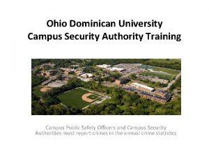 Ohio Dominican University Campus Security Authority Training Campus