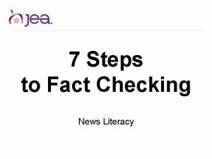 7 Steps to Fact Checking News Literacy Fact