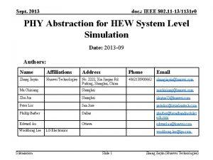 Sept 2013 doc IEEE 802 11 131131 r