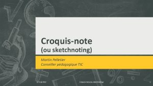 Croquisnote ou sketchnoting Martin Pelletier Conseiller pdagogique TIC