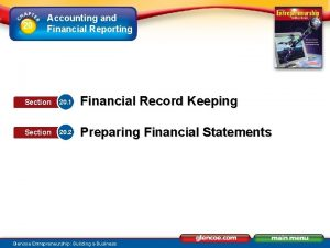 20 Accounting and Financial Reporting Section 20 1