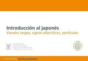 Introduccin al japons Vocales largas signos diacrticos partculas