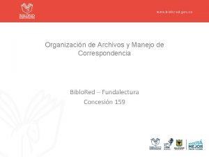 Organizacin de Archivos y Manejo de Correspondencia Biblo
