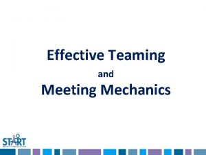 Effective Teaming and Meeting Mechanics Poll Everywhere Two