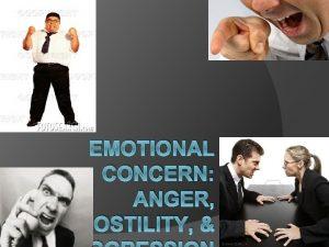 EMOTIONAL CONCERN ANGER HOSTILITY ANGER What is Anger