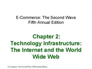 ECommerce The Second Wave Fifth Annual Edition Chapter