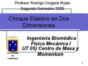Profesor Rodrigo Vergara Rojas Segundo Semestre 2005 Choque