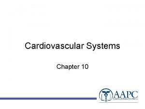 Cardiovascular Systems Chapter 10 CPT copyright 2010 American