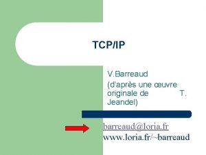 TCPIP V Barreaud daprs une uvre originale de