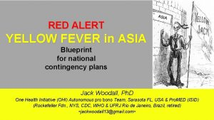 ASIA RED ALERT YELLOW FEVER in ASIA Blueprint