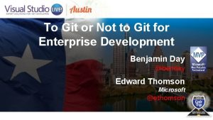 To Git or Not to Git for Enterprise