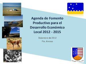 Agenda de Fomento Productivo para el Desarrollo Econmico
