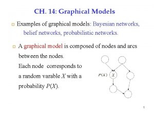 CH 14 Graphical Models 1 Examples of graphical
