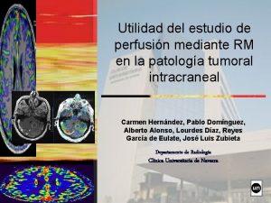 Utilidad del estudio de perfusin mediante RM en