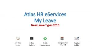 Atlas HR e Services My Leave New Leave
