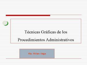 Tcnicas Grficas de los Procedimientos Administrativos Msc Mirian