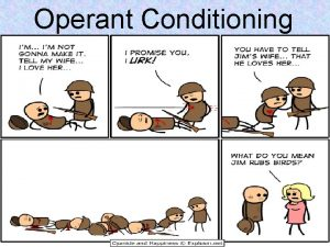 Operant Conditioning Operant Conditioning A type of learning