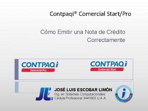Contpaqi Comercial StartPro Cmo Emitir una Nota de