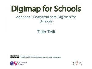 Adnoddau Daearyddiaeth Digimap for Schools Taith Teifi EDINA