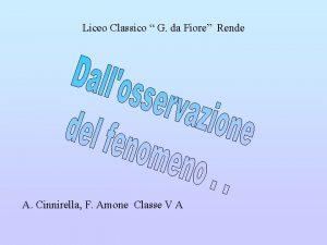 Liceo Classico G da Fiore Rende A Cinnirella
