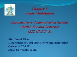Chapter3 Angle Modulation Introduction to Communication Systems 1440