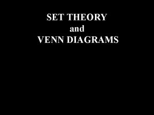 T Bolan SET THEORY and VENN DIAGRAMS Words