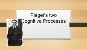 Piagets two Cognitive Processes Cognitive theories Looks at