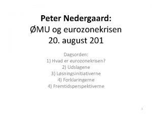Peter Nedergaard MU og eurozonekrisen 20 august 201