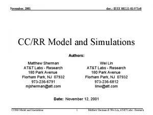 November 2001 doc IEEE 802 11 01571 r