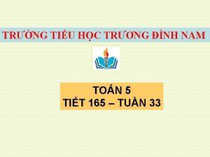 TRNG TIU HC TRNG NH NAM TON 5