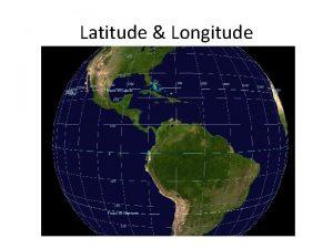 Latitude Longitude Latitude Earths imaginary lines that run