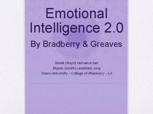 Emotional Intelligence 2 0 By Bradberry Greaves Nanik